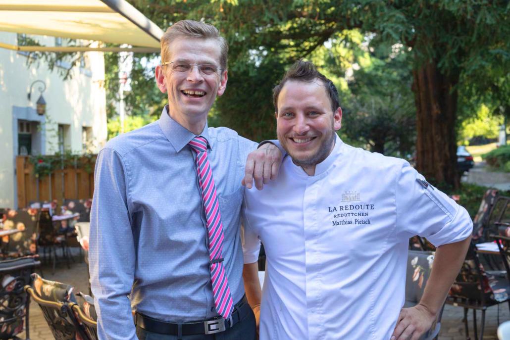 Gastgeber Klaus W. Sasse und Küchenchef Matthias Pietsch vom Restaurant Bonn Redüttchen!
