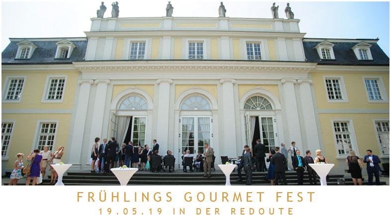 8 Spitzen-Köche, 7 Top-Winzer: Frühlingsfest am 19.05.19 in der La Redoute!